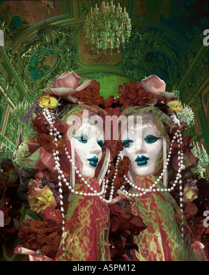 Venice carnival masks, Italy - Stock Photo