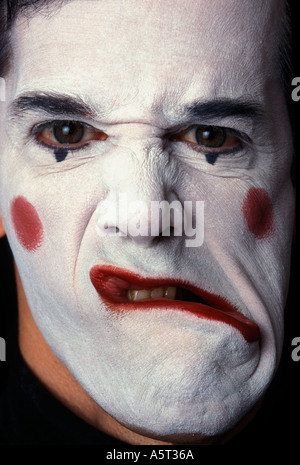 MIME Male making angry face - Stockfoto