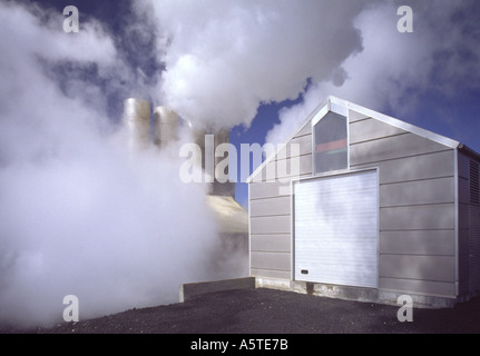 Power Plant Iceland - Stock Photo