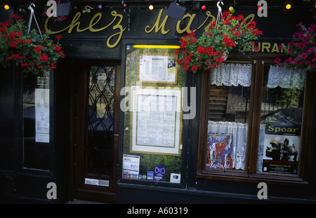 Menus of french restaurant Paris - Stock Photo