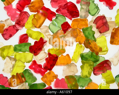 jelly baby babies dolly mixtures - Stock Photo