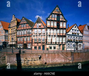 DE -  LOWER SAXONY:  Stade Town and River Schwinge in 'Altes Land' - Stock Photo