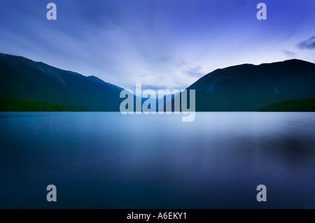Lake Rotoiti in the Nelson Lakes region South Island New Zealand - Stock Photo