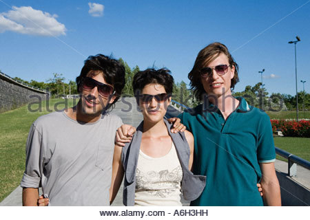 Three friends - Stock Photo