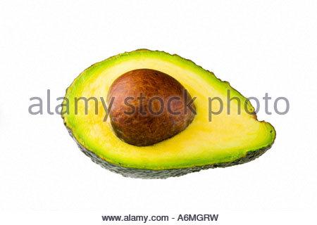 Avocado (Persea americana) - Stock Photo