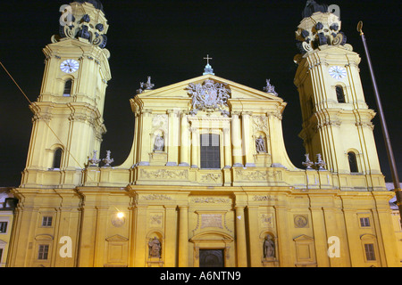 Theatinerkirche, Munich, Bavaria, Germany - Stock Photo
