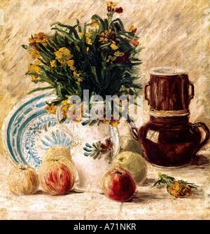 'fine arts, Gogh, Vincent van, (1853 - 1890), painting, 'still life', circa 1886, Von der Heydt museum, Wuppertal, - Stock Photo