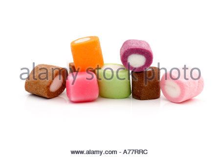 Brightly coloured sweets. - Stock Photo