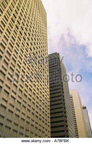 Skyscrapers in tokyo - Stock Photo