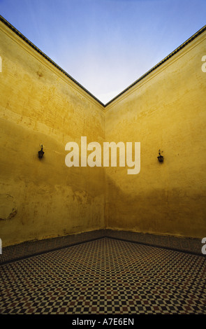 Mausoleum of Moulay Ismail Town of Meknes Morocco - Stock Photo