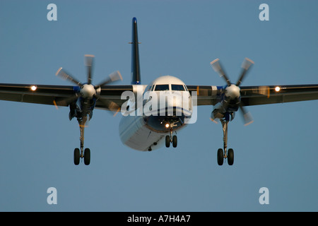 Fokker 50 VLM Airlines - Stock Photo