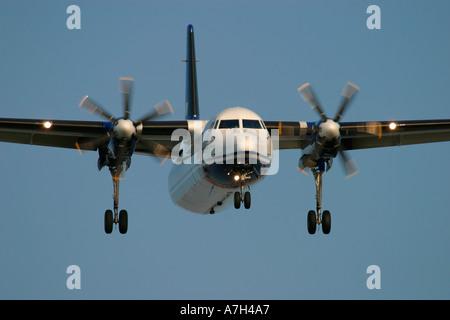Fokker 50 VLM Airlines - Stock Photo