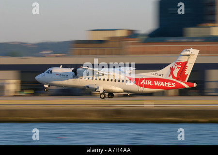 ATR 42 300 Air Wales landing - Stock Photo