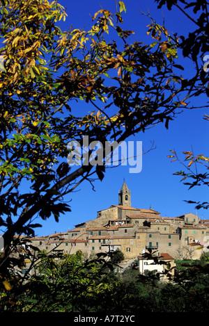 Italy, Tuscany, Monticello Amiata close to Amiata Mount - Stock Photo