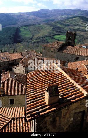 Italy, Tuscany, around the Amiata Mount, Santa Fiora - Stock Photo