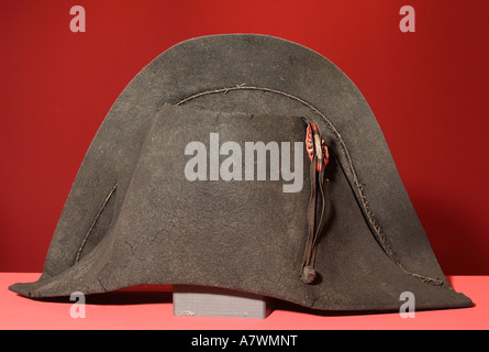 The hat of the french emperor napoleon bonaparte - Stock Photo