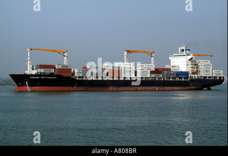 Container carrier MAERSK Nottingham on Southampton Water England UK - Stock Photo