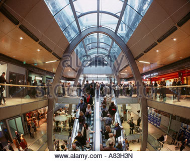 shopping in hamburg her the ultra modern shopping mall europa stock photo royalty free image. Black Bedroom Furniture Sets. Home Design Ideas