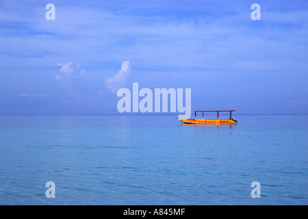 Glass bottom boat, Negril, Jamaica - Stock Photo