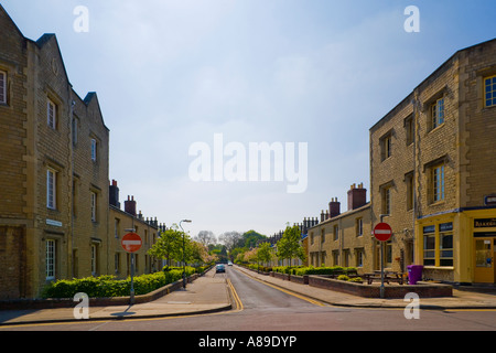 Bathampton Street in Great Western Railway village Swindon workers houses built with stone from the Box Tunnel near - Stock Photo