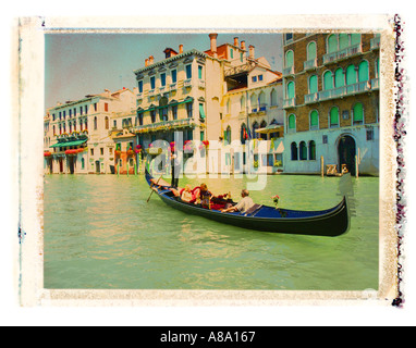 Grand Canal in Venice Italy - Stock Photo