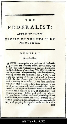 The Essays Urging Ratification During The New York