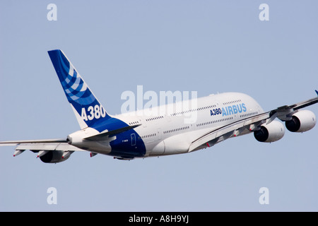 The new Airbus A380 double deck super jumbo airliner - Stock Photo