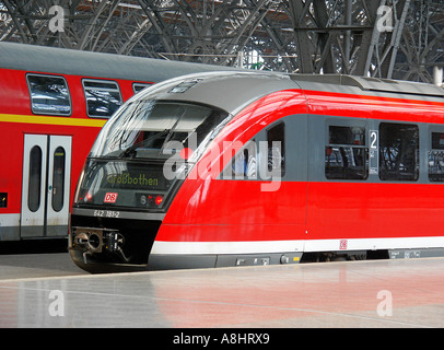 Leipzig, central station, Germany - Stock Photo