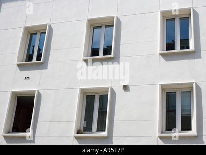 Apartment building facade, close-up - Stock Photo