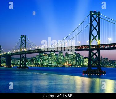 USA - CALIFORNIA: Oakland Bridge at San Francisco - Stock Photo