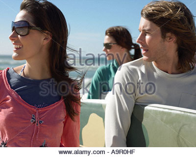 Surfer friends - Stock Photo