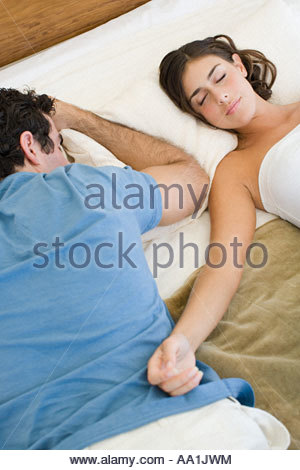 Couple sleeping - Stock Photo