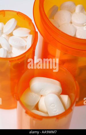 Bottles of pills - Stock Photo