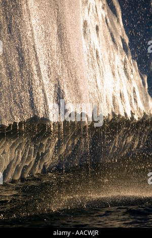 Greenland Ilulissat Melting water streams from iceberg calved from Ilulissat Kangerlua Glacier Jakobshavn Icefjord - Stock Photo
