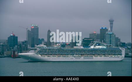 The Luxury Cruise Ship Diamond Princess Approaching Jeju
