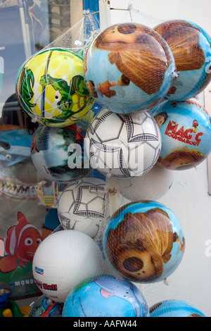Balloons shop on the french coast - Stock Photo