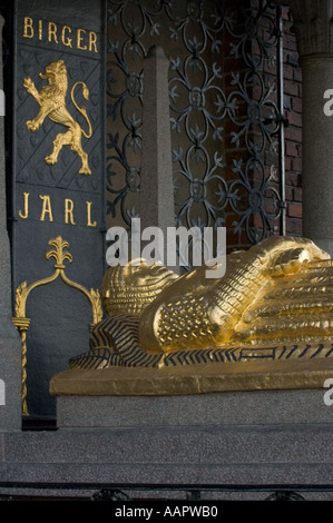 Sweden, Stockholm, Stadshuset, Tomb of Birger Jarl - Stock Photo