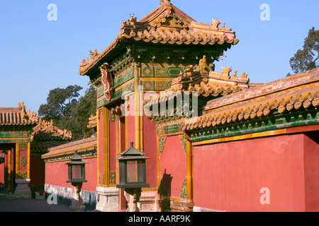 Gate of the Heavenly Purity inside the Forbidden City former imperial palace Beijing China - Stockfoto