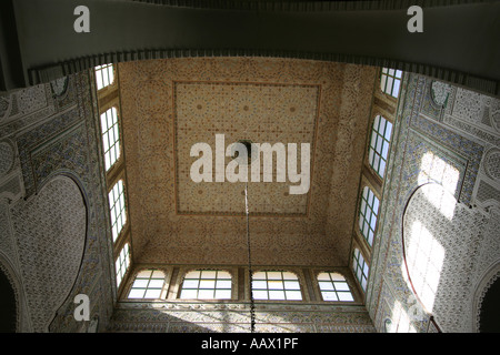 A detail of the ceiling of Moulay Ismail mausoleum in Meknes, Morocco - Stock Photo