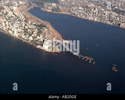New motorway under construction linking airports with central Mumbai India - Stock Photo