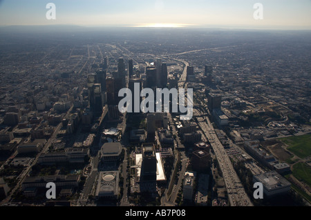 aerial Los Angeles by the ocean CA - Stock Photo