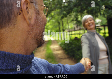 Couple in park - Stock Photo