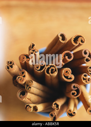 Cinnamon Sticks from above - Stock Photo