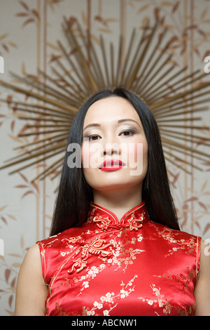 Portrait of a chinese woman - Stock Photo