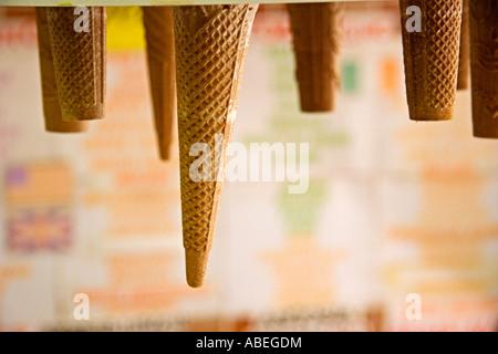 Ice cream cones - Stock Photo
