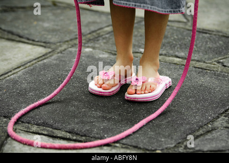 child with a skipping rope - Stockfoto