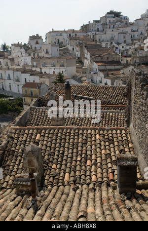 Roof tops Monte Sant Angelo Monte Sant Angelo Puglia southern Italy 2006 - Stock Photo
