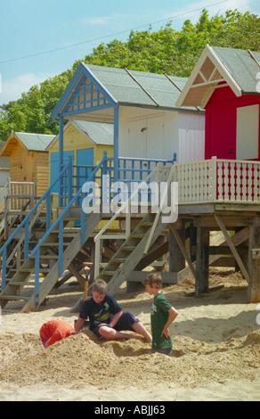 Beach huts - Stock Photo
