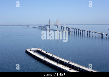 Scenic aerial photo of sunshine skyway bridge fishing for Sunshine skyway fishing pier