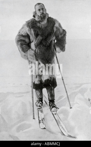 Captain Roald Engelbregt Gravning Amundsen 1872 to 1928 Norwegian explorer of the polar regions - Stock Photo